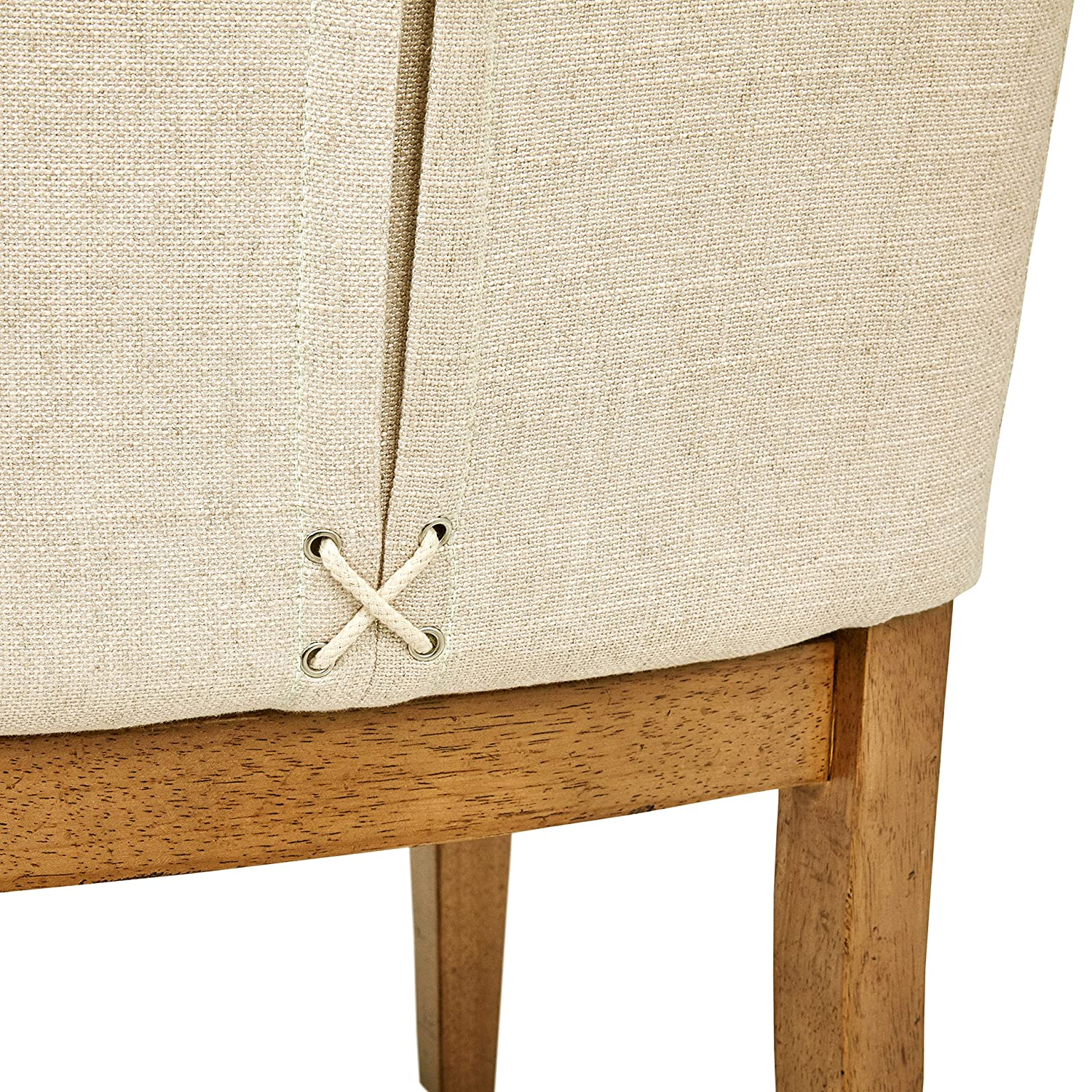 Stone Beam Parson Armless Dining Chairs, 40 H, Set of 2, Beige