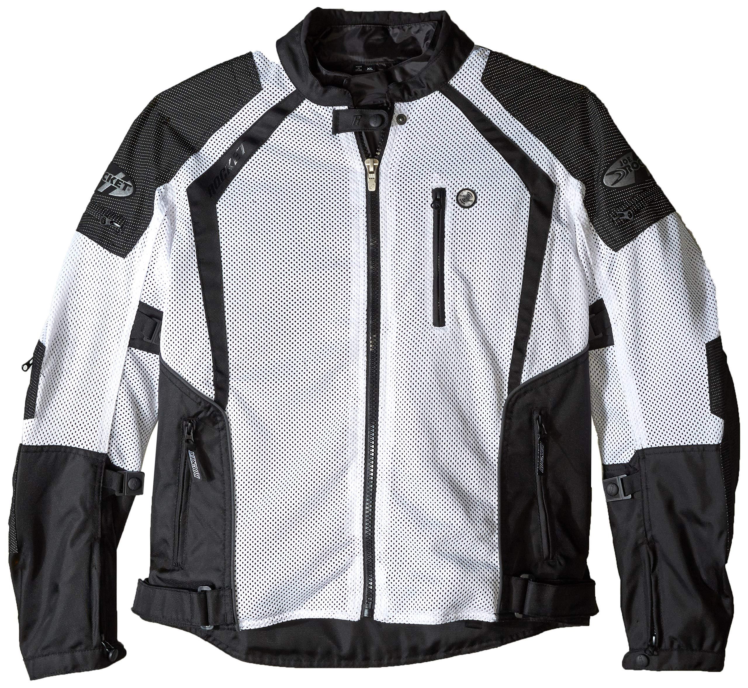Joe Rocket Phoenix Ion Men's Mesh Motorcycle Jacket (White, X-Large)