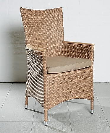 Gartenstühle rattan braun  4 Gartenstühle