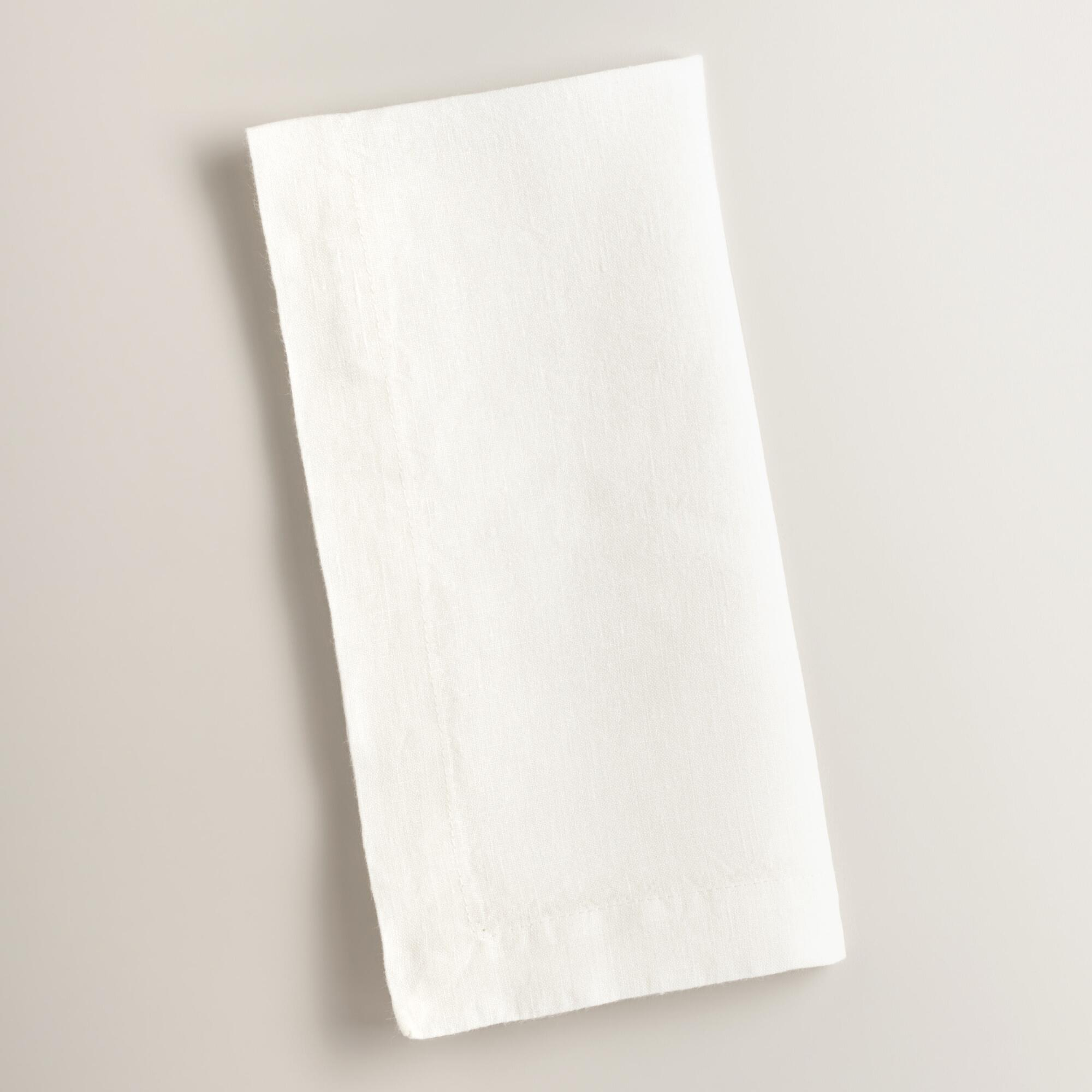 Ivory 100% Linen Napkins Set of 4 | World Market