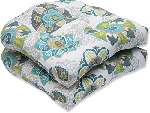 Pillow Perfect Outdoor/Indoor Allodala Oasis Tufted Seat Cushions Round Back