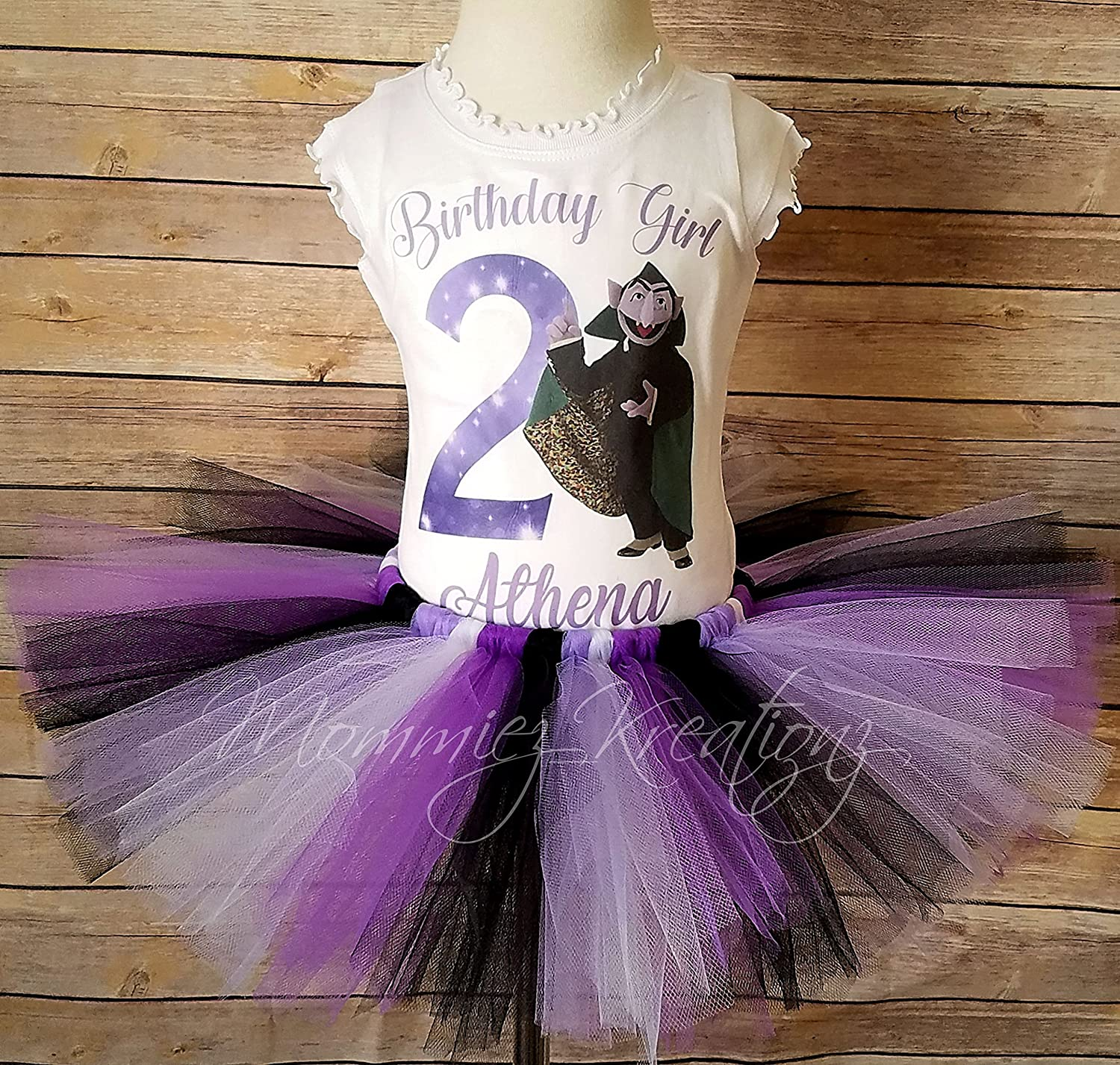 Amazon Com Count Von Count Personalized Birthday Tutu Set