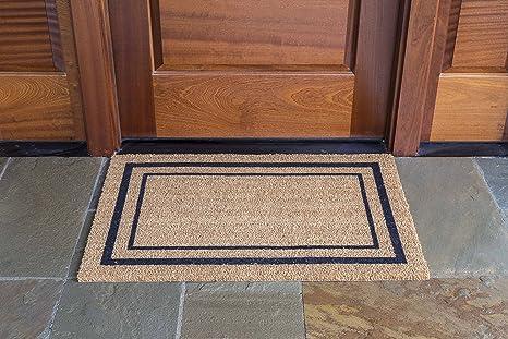 DeCoir 24u0026quot; X 36u0026quot; U0027Classic Borderu0027 Coir Doormat ...