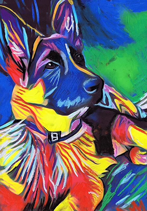 GSD Art Personalized Wall Decor Custom Name Housewarming Gift German Shepherd Watercolor Print Dog Home Decor Watercolor Dog Wall Art