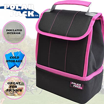 bf4955387447 POLAR PACK Soft Cooler Insulated Tote Bag Insulated Cooler Bag Collapsible  Lunch Bag Zipper Pocket Handle Carry Insulated Picnic Bag Outdoor Indoor ...