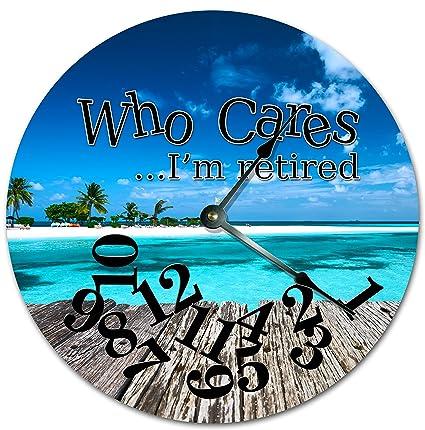 amazon com easysells 10 5 who cares i m retired tropical beach