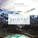 2019 Promise Calendar, Christian Wall Calendars, Photos, Bible Verses, Planner (12 x 12 inch)