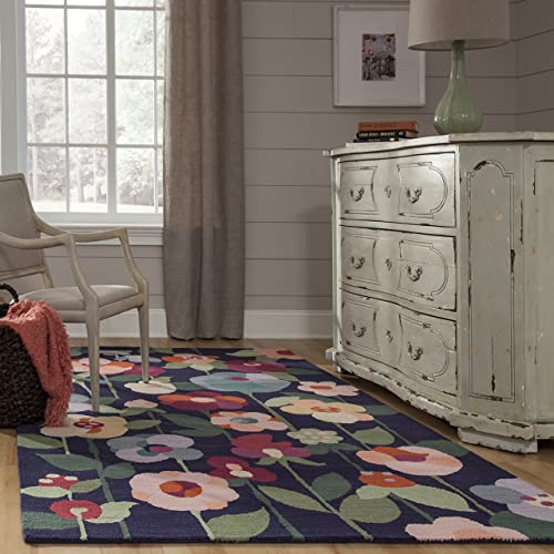 Momeni Newport Collection Area Rug, 9 0 x 12 0 , Navy