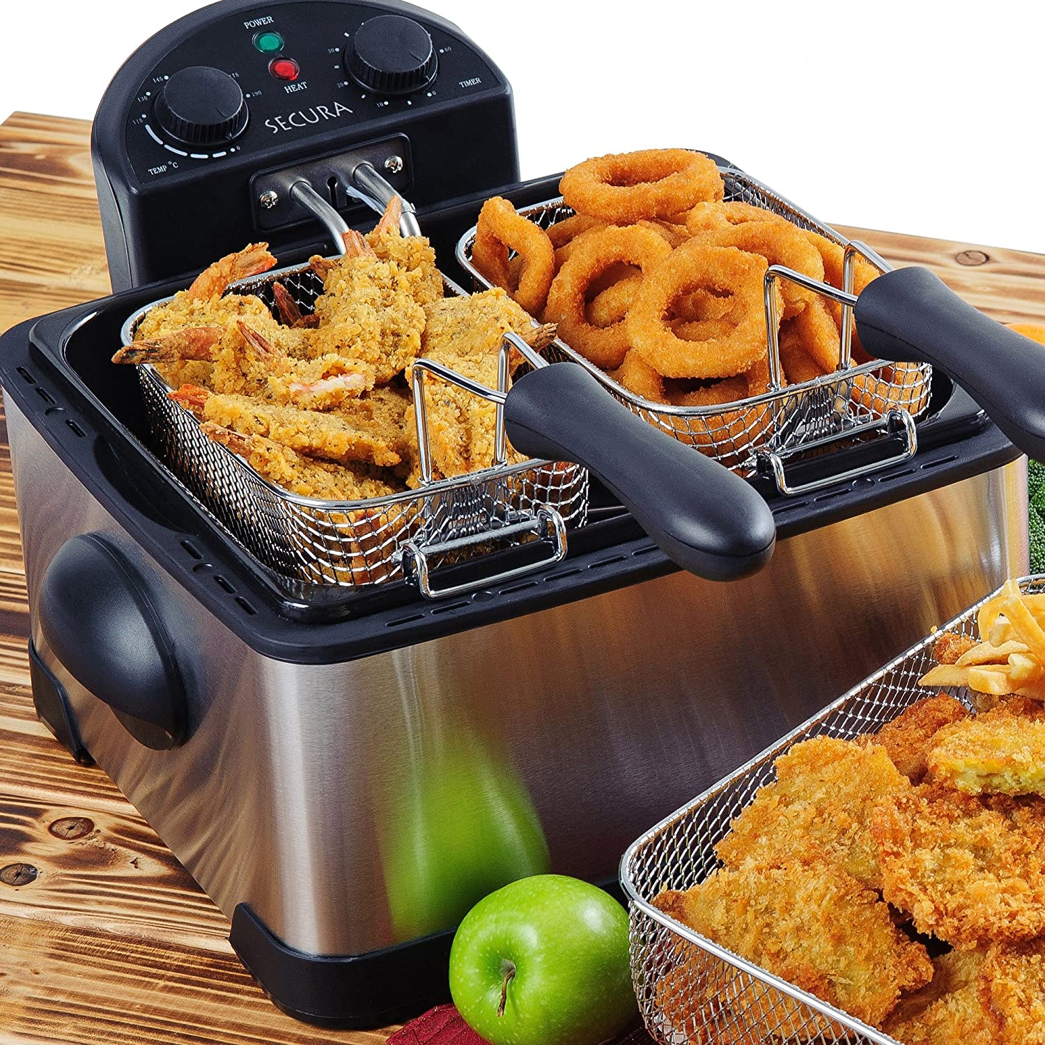 Hamilton Beach Professional Deep Fryer with Cool Touch, 2-Liter Oil Capacity