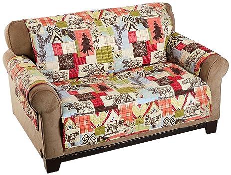 Amazoncom Rustic Lodge Furniture Protector Loveseat Home Kitchen - Rustic lodge furniture