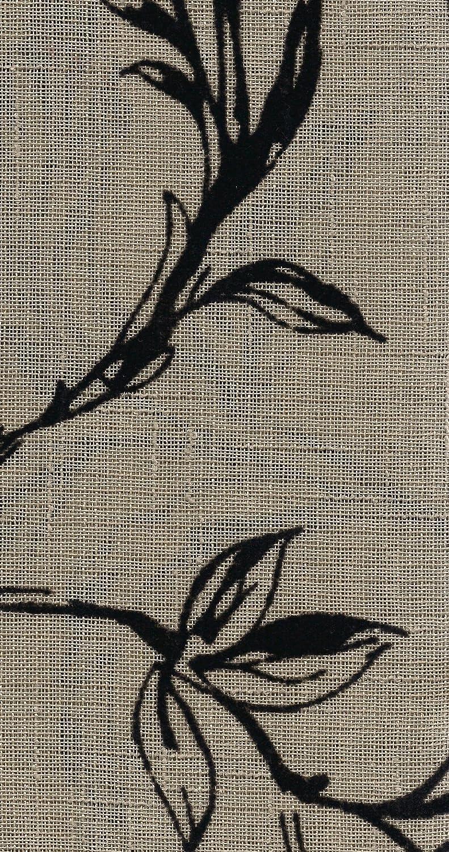 Natural//Black 52 x 84 LORRAINE HOME FASHIONS Fenwick Tailored Window Panel