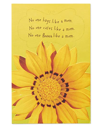 Amazon American Greetings Sunflower Birthday Card For Mom With