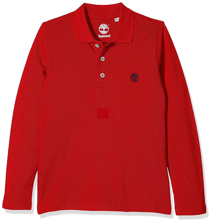 Timberland Long Sleeve Polo, Camiseta para Niñas, Rojo (Poppy) 12 ...