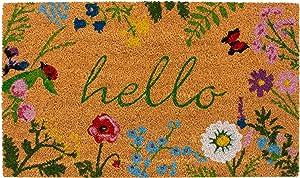 Calloway Mills AZ105991729 Floral Hello Doormat, 17