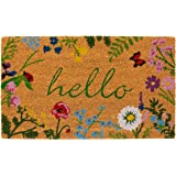 "Calloway Mills AZ105991729 Floral Hello Doormat, 17"" x 29"", Multicolor"