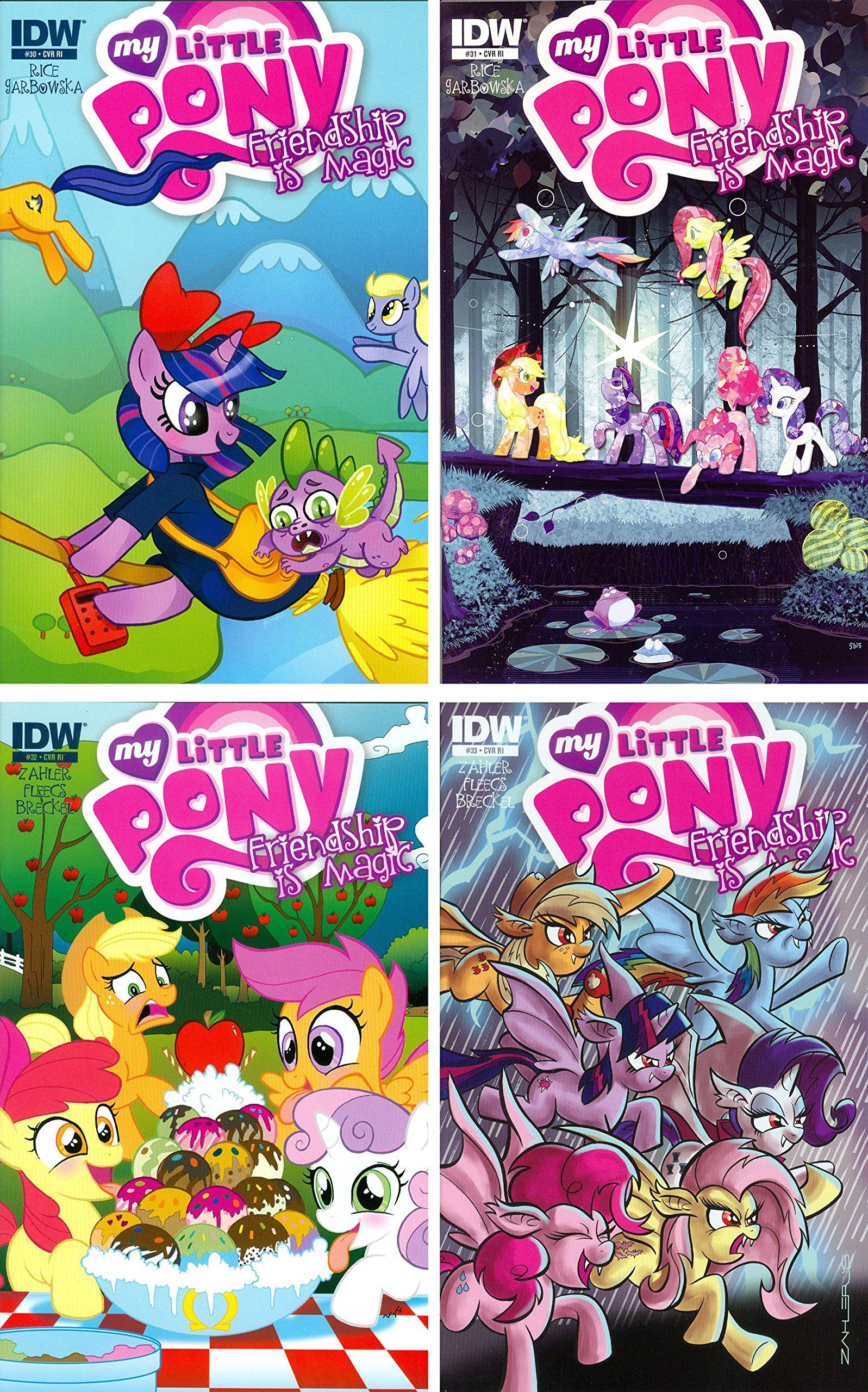 My Little Pony Friendship is Magic Issues 30-33 Retailer Incentive Variant Set - Bundle of Four (4) IDW Comics! PDF