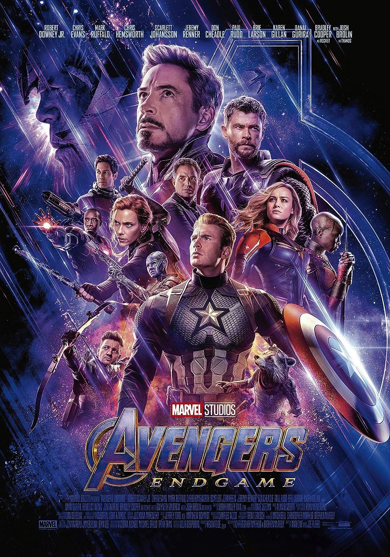 Avengers Endgame Movie Poster Limited Wall Art Print Photo Brie Larson Robert Downey Jr. Chris Hemsworth Marvel Comics Size 27x40#2