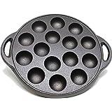 Kasian House Cast Iron Griddle for Making Poffertjes Pancake Balls, Takoyaki, and Thai Kanom Krok and Other SMALL…