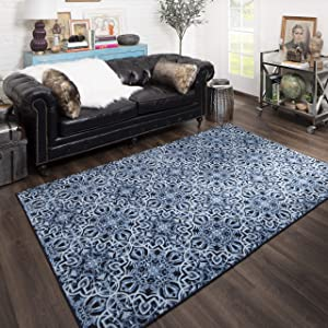 Mohawk Home Amstel Area Rugs, 6'x9', Navy
