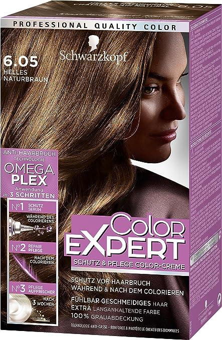 Color Expert Intensivo de cuidado de color crema 6.05 brillante natural marrón Nivel 3, 3 Pack (3 x 167 ml)