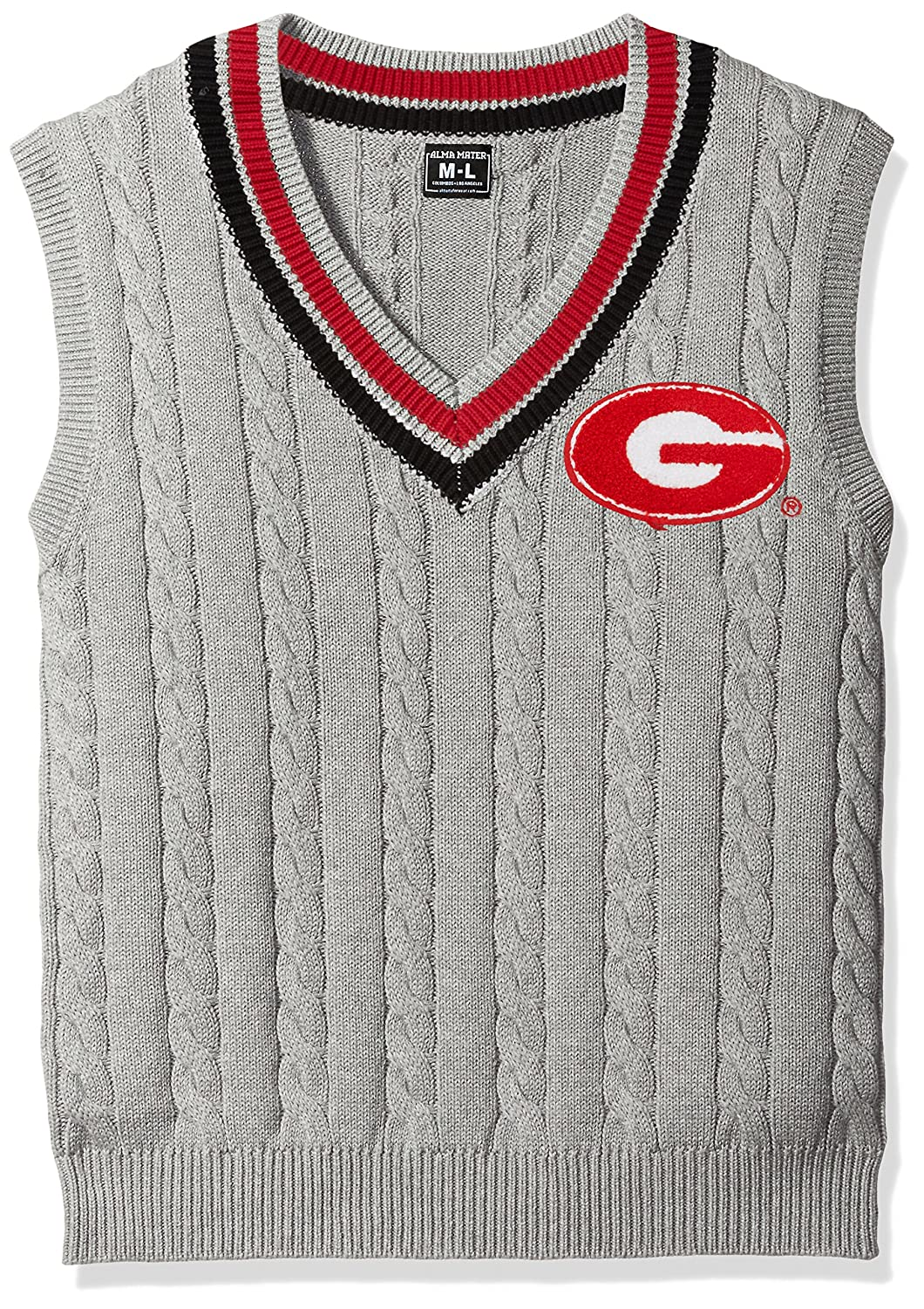 Alma Mater NCAA Mens Cable Knit Vest