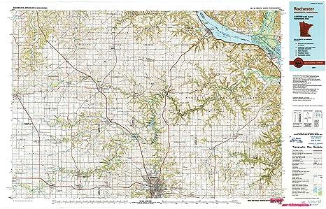 Amazon Com Yellowmaps Rochester Mn Topo Map 1 100000 Scale 30 X
