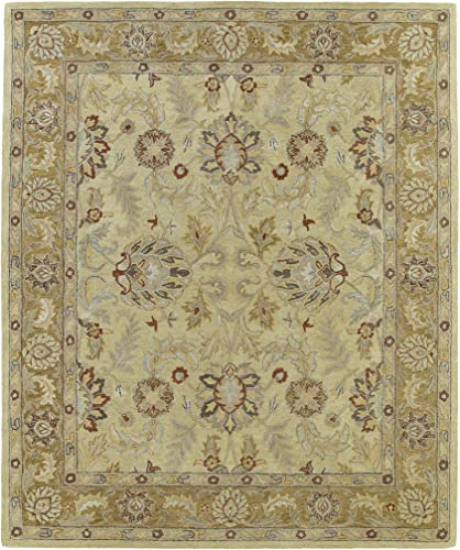Kaleen Rugs Solomon Collection 4053-05 Gold Hand Tufted 4 x 6 Rug