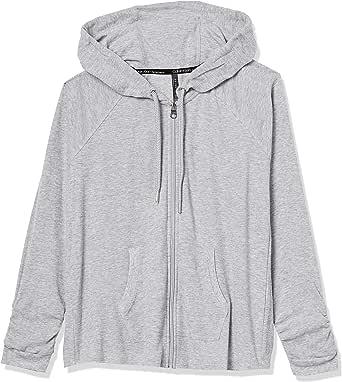 CALVIN KLEIN Women's Premium Performance Ruched Long Sleeve Zip Up Hoodie (Standard and Plus)
