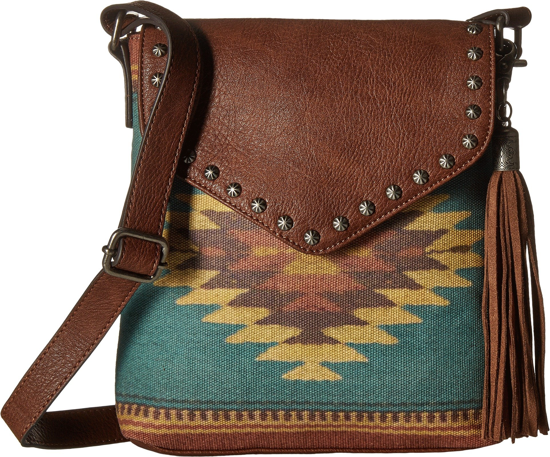 M&F Western Women's Zapotec Messenger Brown One Size
