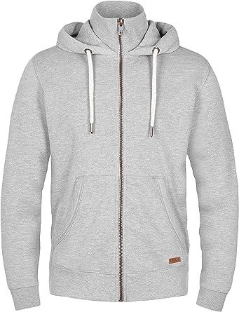 01e555fa9b2b SOLID Herren Jacke TOTO Sweatjacke Sweater Kapuzenjacke Zip Hoodie Zipper  Männer Kapuze Baumwolle Einfarbig Reißverschluss  Amazon.de  Bekleidung