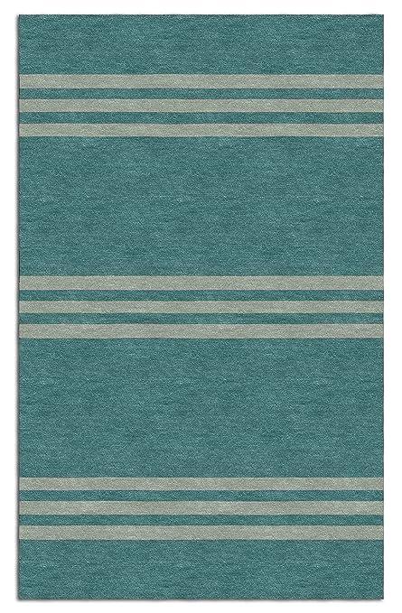 Amazon Com Handmade Teal Beige H3scb06ca08 Stripes 6x9 Area