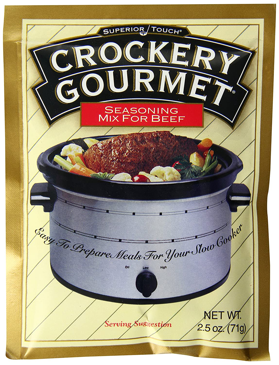 Crockery Gourmet Seasoning Mix For Beef, 2.5 Ounce (Pack of 12)