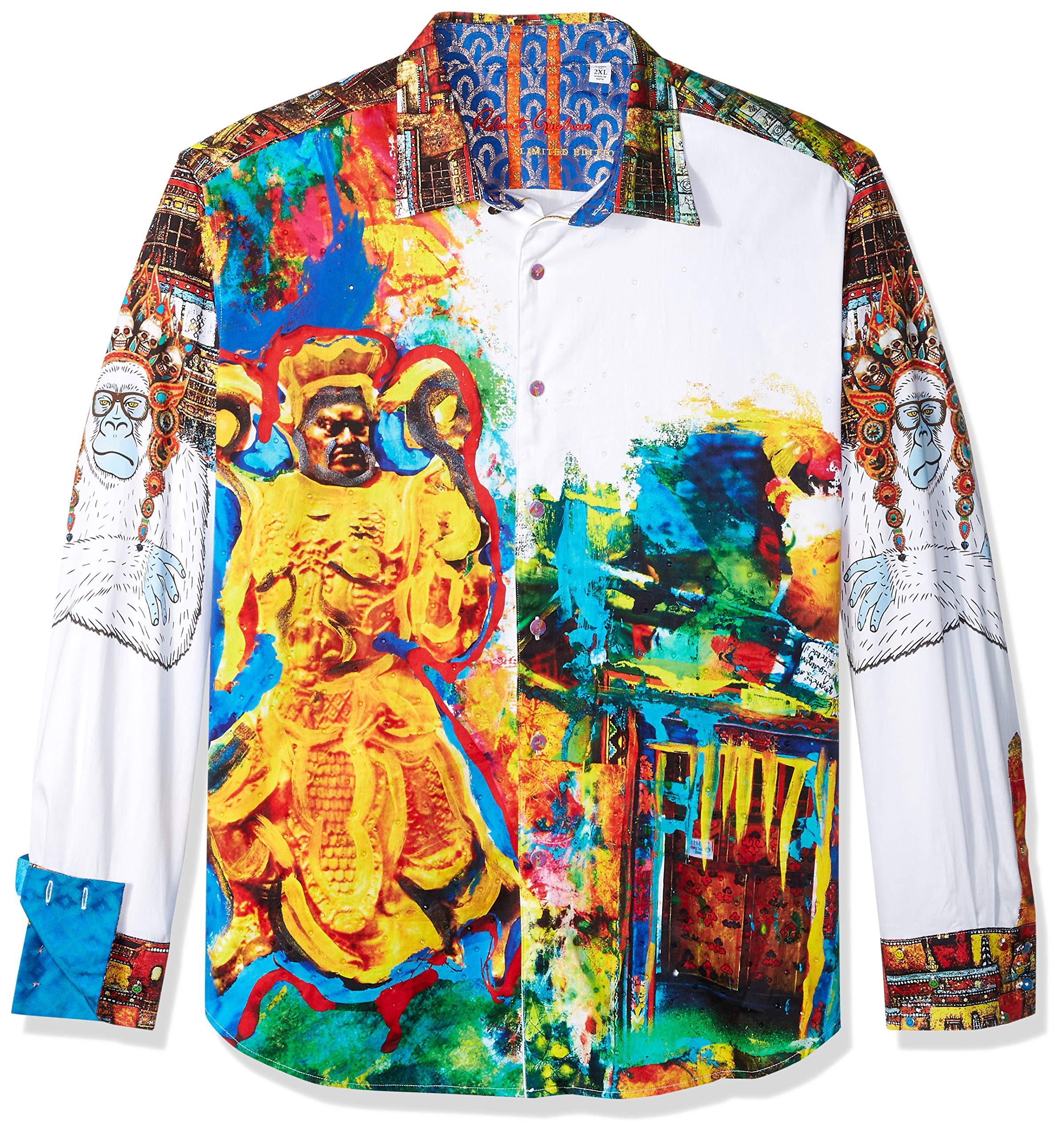 Robert Graham Men's YAKI Warrior Limited Edition Shirt, Multi XLarge