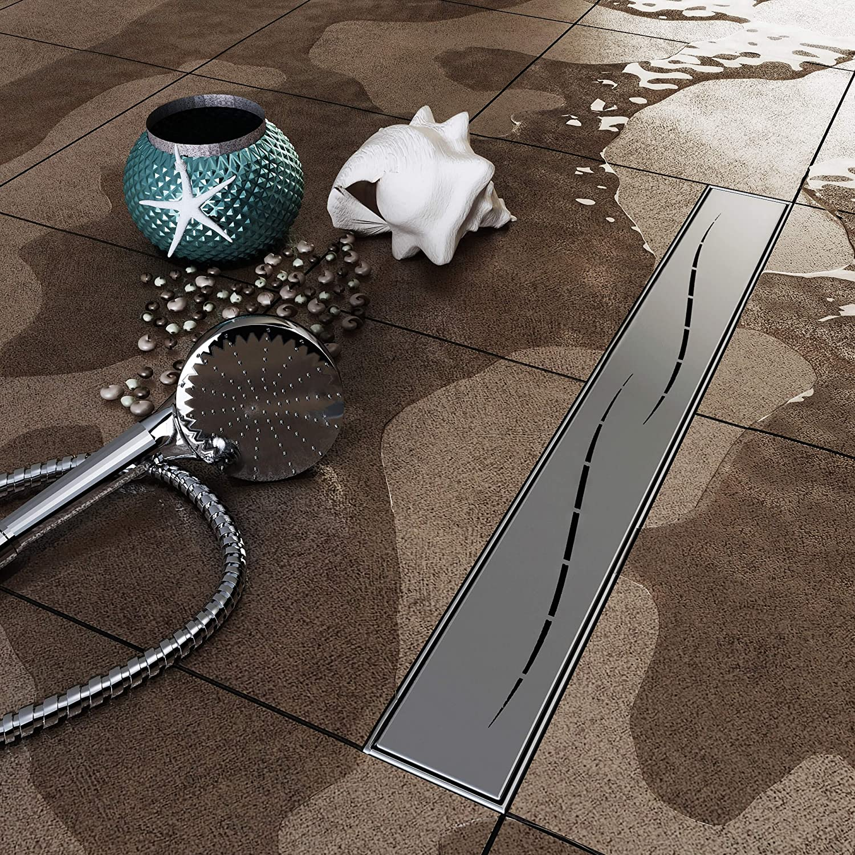 VILSTEIN Canaleta de ducha con sifón, desagüe de suelo y ducha ...