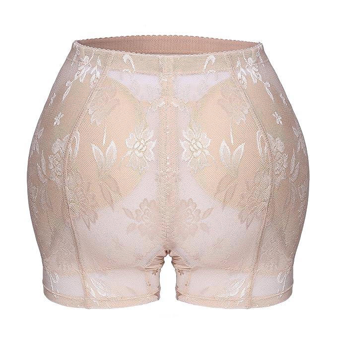 5da22bb6be4c Chumian Padded Panties, Seamless Butt Hip Enhancer Shaper for Women  Underwear Boyshort: Amazon.co.uk: Clothing