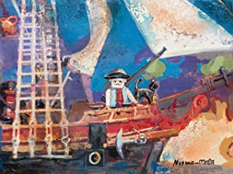Playmobil Clicks Pirates IV Original Handmade Painting