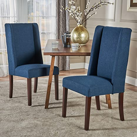 Outstanding Christopher Knight Home Rory Fabric Dining Chair Set Of 2 Navy Blue Inzonedesignstudio Interior Chair Design Inzonedesignstudiocom
