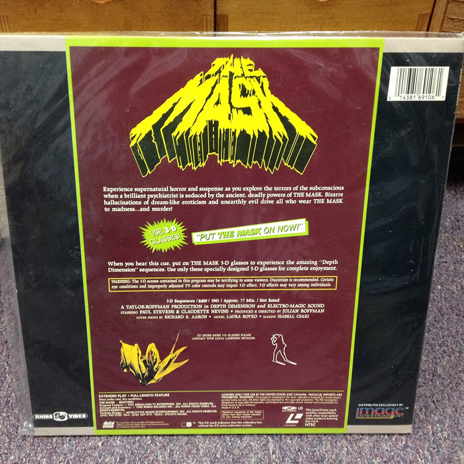 Amazon com : The Mask 3 - D Laserdisc : Other Products