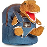 4M WY0005NHM Blue//Green Triceratops Dinosaur Childrens Backpack