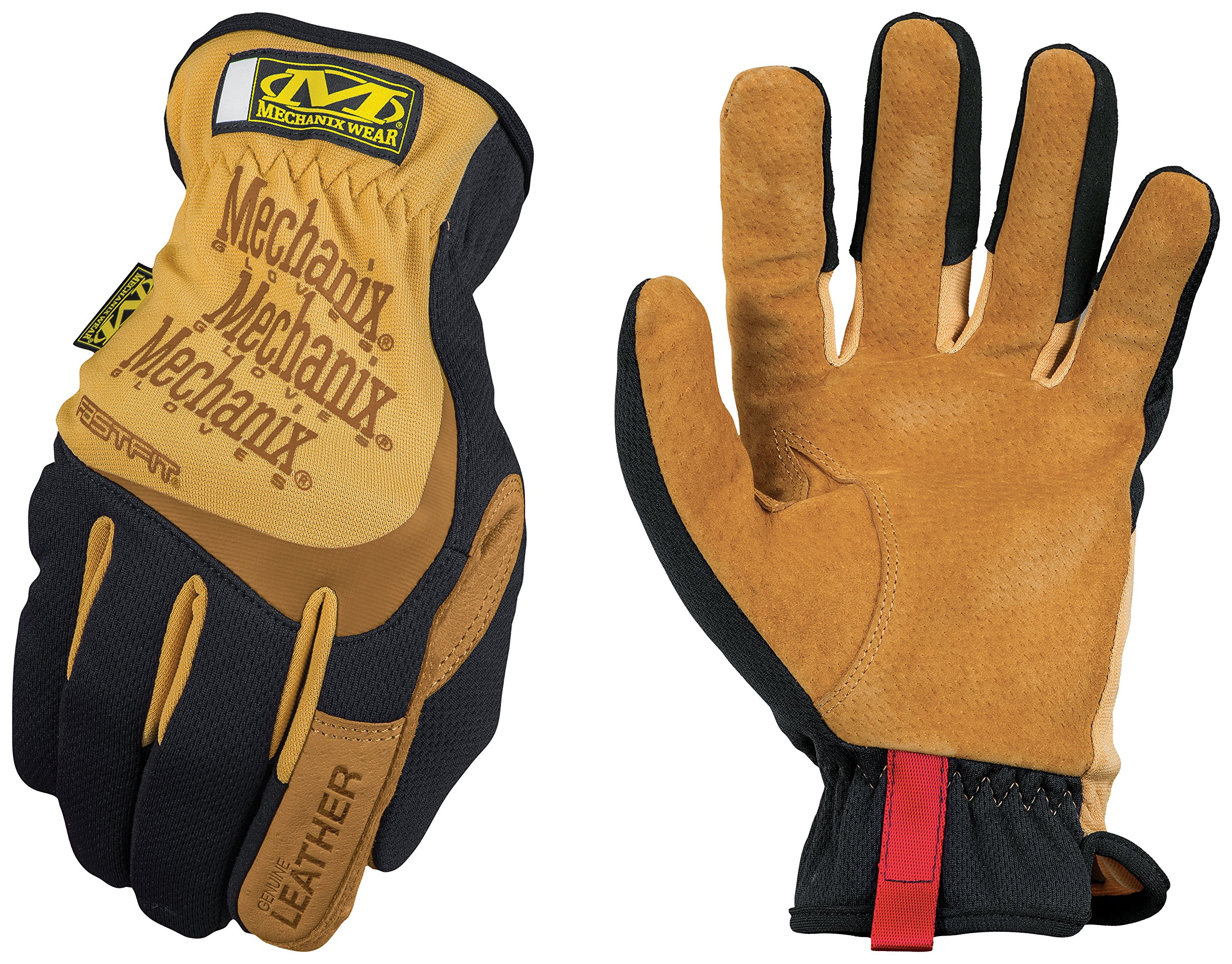 Mechanix Wear - Leather FastFit Gloves (Large, Brown/Black)