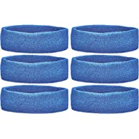 Unique Sports Team Headbands (Pack of 6), Blue
