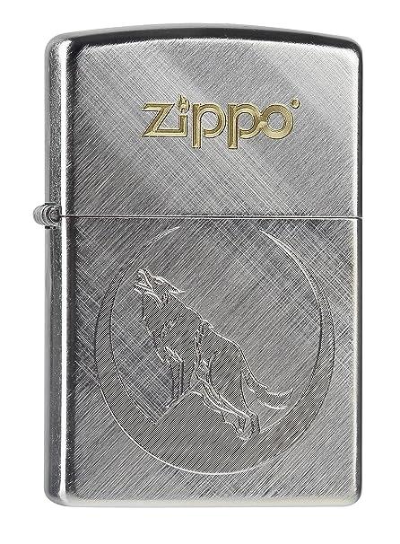 zippo accendino  Zippo, Accendino, motivo: lupo, Grigio (Edelstahloptik):  ...