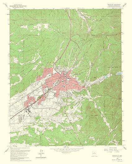 Amazon.com: Topographical Map Print - Santa Fe New Mexico - USGS ...