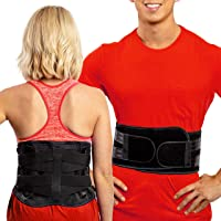 Lower Back Brace by FlexGuard Support - Lumbar Support Waist Backbrace for Back Pain Relief - Compression Belt for Men…