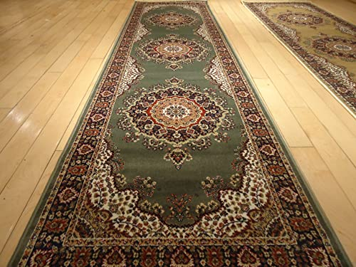 Silk Traditional Area Rug Sage Green Rug 2×8 Rug Silk Persian Area Rugs Floor Hallway Runner Green Rug Runners 2×7 Silk Persian Green Rug