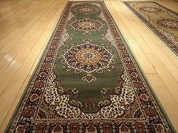 Silk Traditional Area Rug Sage Green Rug 2x8 Rug Silk Persian Area Rugs  Floor Hallway Runner