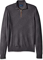Amazon Brand - BUTTONED DOWN Men's 100% Premium Cashmere Quarter-Zip Sweater