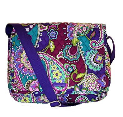 3660bc98512 Image Unavailable. Image not available for. Color  Vera Bradley Messenger  Bag Heather