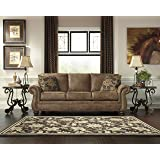 Larkinhurst Traditional Earth Color Faux Leather Sofa