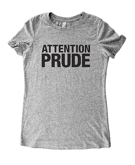 df0d2c889 Amazon.com: Sarcastic Shirts For Women / Attention Prude - Women's ...